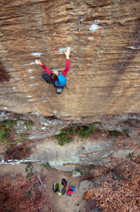 Paige Claassen on God's Own Stone - Photo: Andy Mann