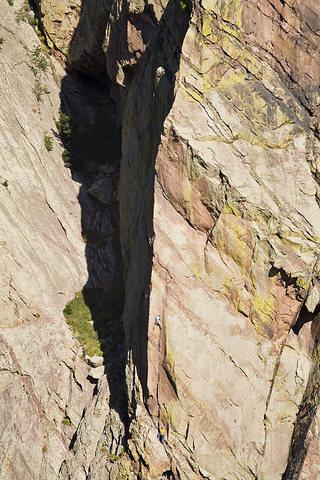 Devan Johnson on The Naked Edge - Photo: Paul Martin