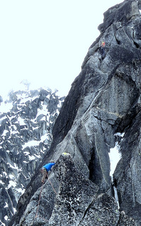 Blake Herrington climbing prime alpine granite in the Stuart Range